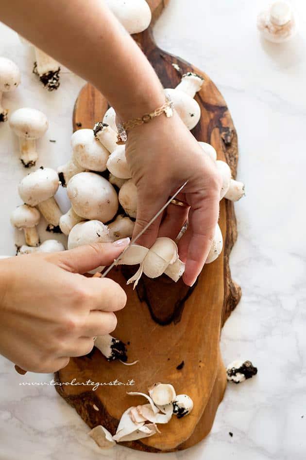 Come pulire i Funghi Champignon 3
