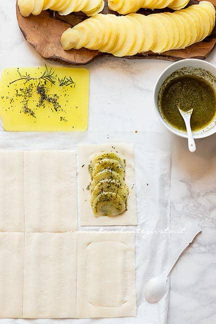 Come fare le sfogliatine di patate (2) -Ricetta Sfogliatine di patate
