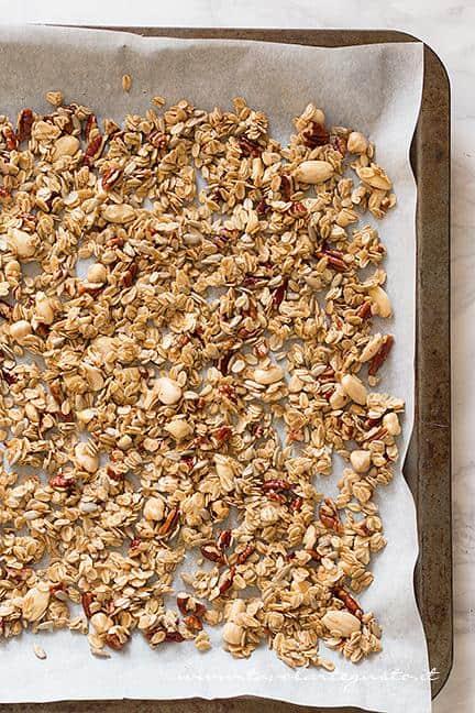 Cuocere (Tostare) in forno il Muesli (1) - Ricetta Muesli fatto in casa