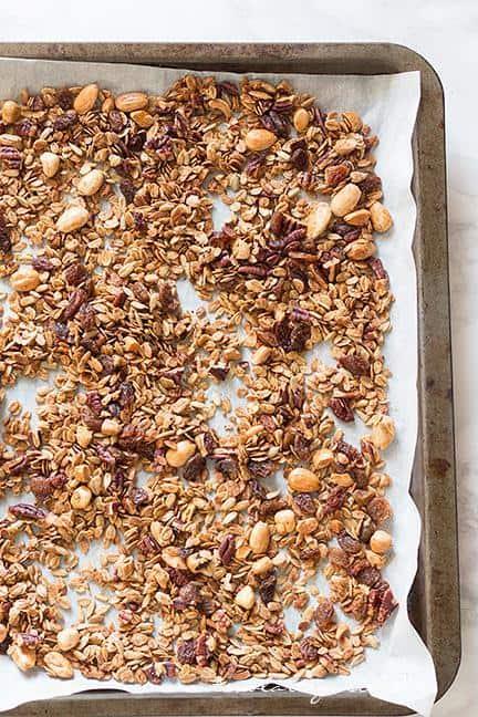 Cuocere (Tostare) in forno il Muesli (2) - Ricetta Muesli fatto in casa