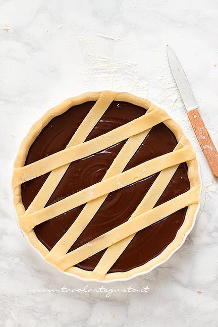 Rifinire la Crostatata - Ricetta Crostata al Cioccolato