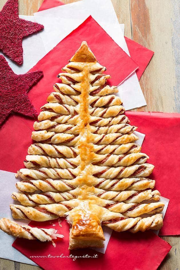 Antipasti Natalizi A Forma Di Albero Di Natale.Albero Di Natale Di Pasta Sfoglia La Ricetta Passo Passo Facile E Veloce