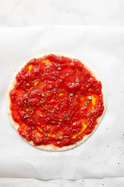 Condire la pizza - Ricetta Pizza Veloce allo yogurt