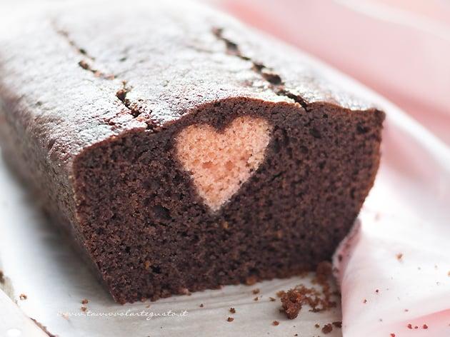 Plumcake con cuore dentro a sopresa - Ricetta Plumcake con cuore-