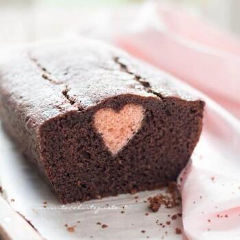 Plumcake con cuore dentro a sopresa - Ricetta Plumcake con cuore