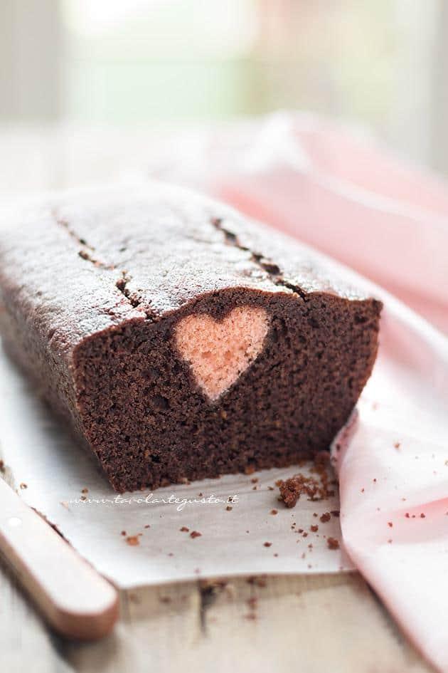 Plumcake con cuore dentro a sorpresa - Ricetta Plumcake con cuore