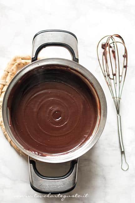 Il Sanguinaccio appena pronto - Ricetta Sanguinaccio dolce al cioccolato