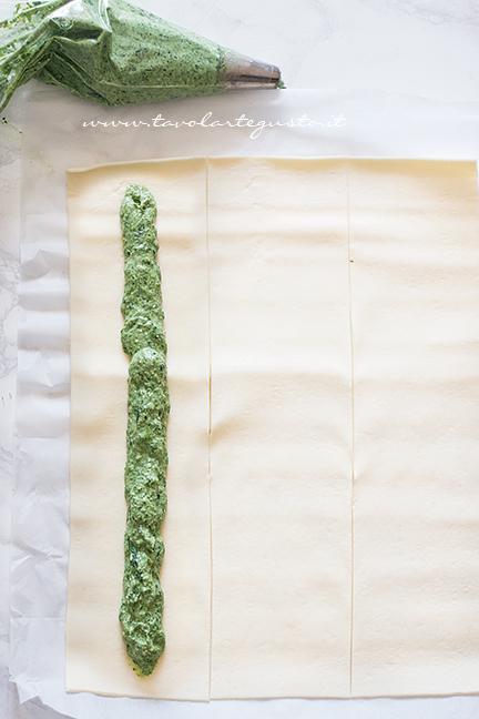 Come farcire la Girella di sfoglia - Tutorial 1 - Ricetta Girella di Sfoglia ripiena