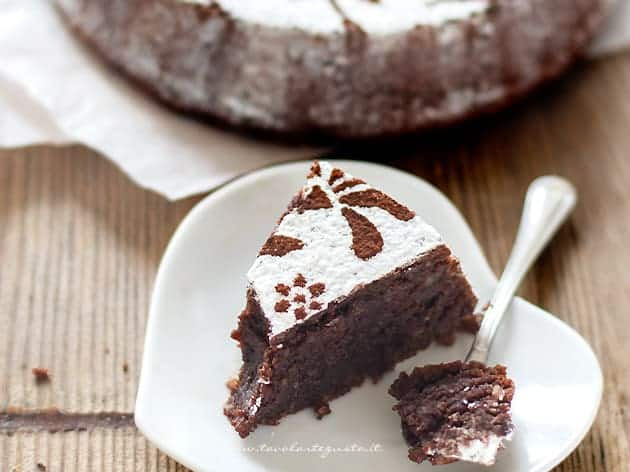 Fetta di Torta Caprese - Ricetta originale Torta Caprese-