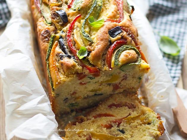 Plumcake salato alle verdure - Ricetta Plumcake di verdure soffice-