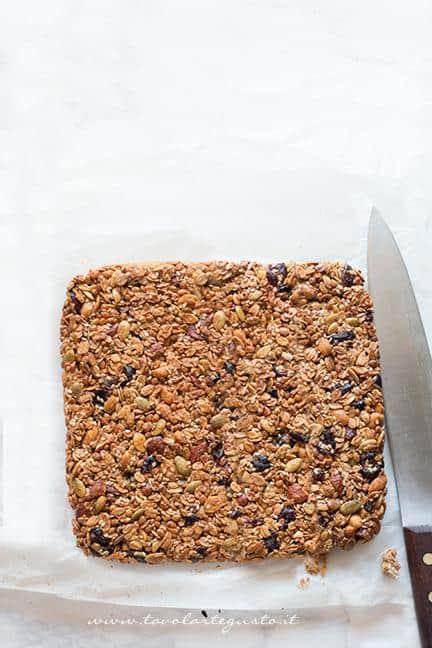 Composto appena cotto - Ricetta Barrette ai Cereali
