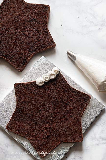 Farcire la torta a Stella - Ricetta Torta Stella al cioccolato