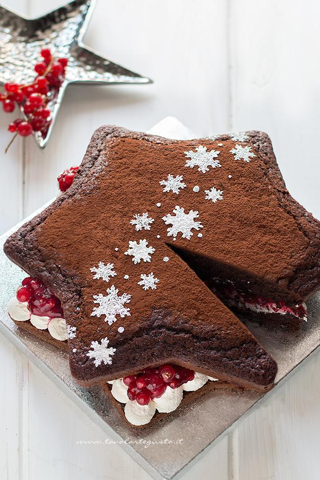 Fetta di Torta stella al cioccolato - Ricetta Torta Stella al cioccolato