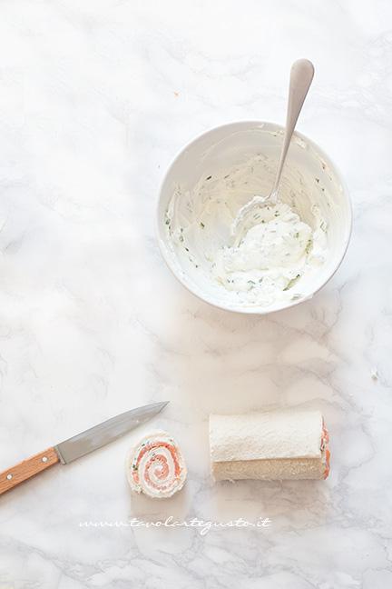 Ricavare le Girelle al Salmone - Ricetta Girelle al Salmone