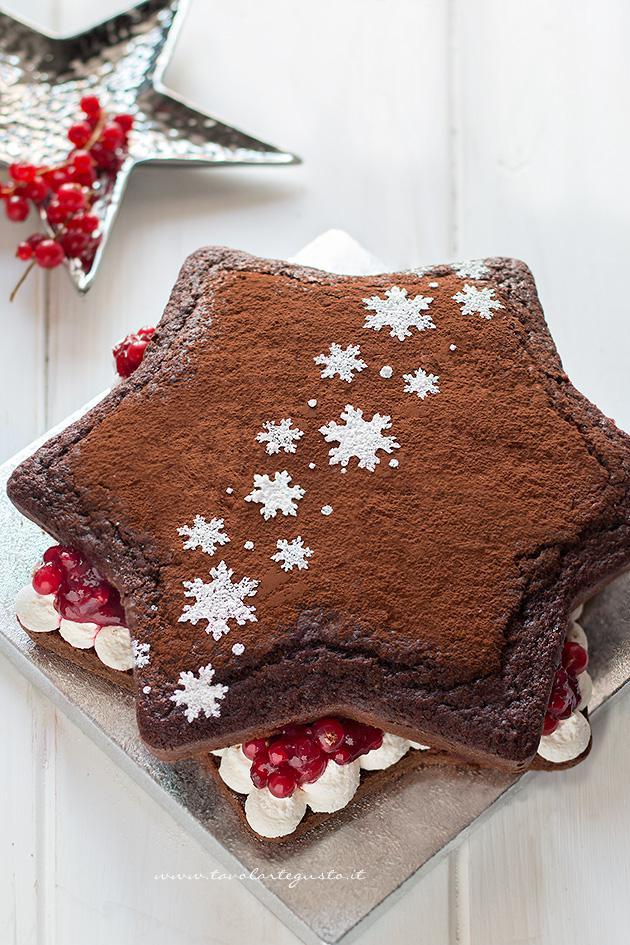 Ricetta Stella Di Natale.Torta Stella Al Cioccolato Farcita Facile Golosa Ricetta Torta Stella