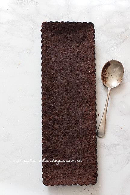 Come realizzare il guscio senza cottura - Ricetta Crostata pan di Stelle