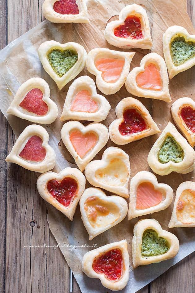 Cuori di Pasta Sfoglia salati : facili, golosi, mille gusti!