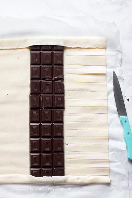 Come fare la treccia di sfoglia al cioccolato 1 - Ricetta Sfoglia al cioccolato