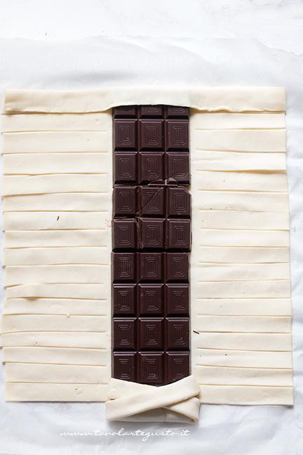 Come fare la treccia di sfoglia al cioccolato 2 - Ricetta Sfoglia al cioccolato