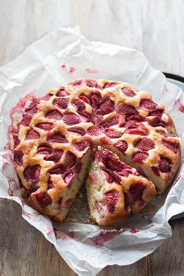 Torta Ricotta e Fragole - Ricetta Torta Ricotta e Fragole