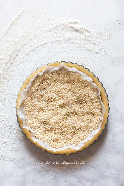 Cottura in bianco del guscio - Ricetta Crostata di fragole