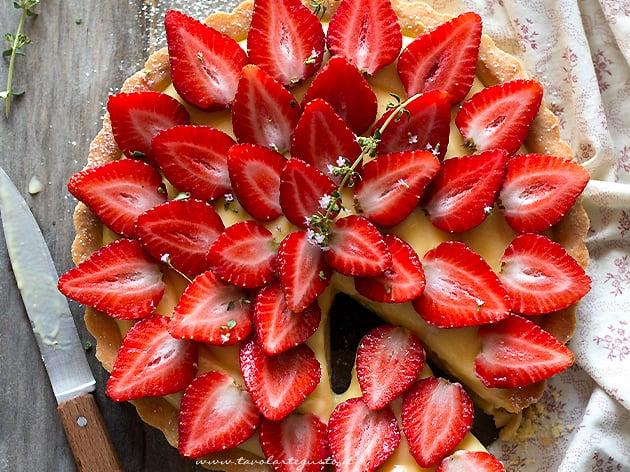 Crostata di fragole fresche, La Ricetta Classica buonissima - Ricetta Crostata di fragole