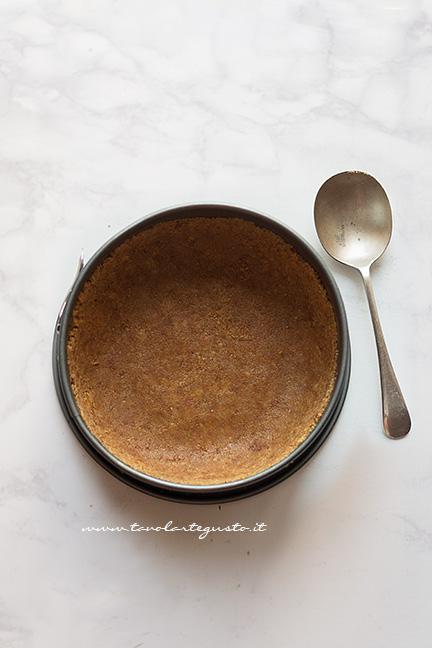 Base di biscotti - Ricetta Cheesecake alla ricotta