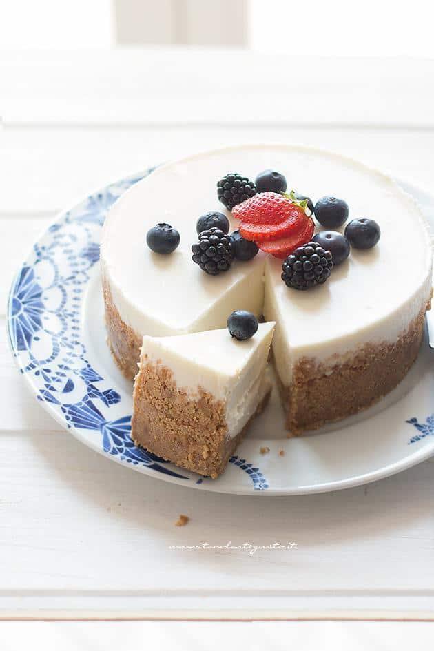 Cheesecake alla ricotta - Ricetta Cheesecake alla ricotta (senza cottura)