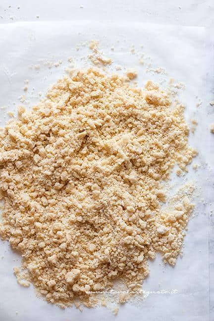 Sbriciolare la pasta frolla - Ricetta Sbriciolata al limone