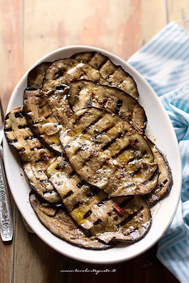Melanzane grigliate - Ricetta Melanzane grigliate saporite