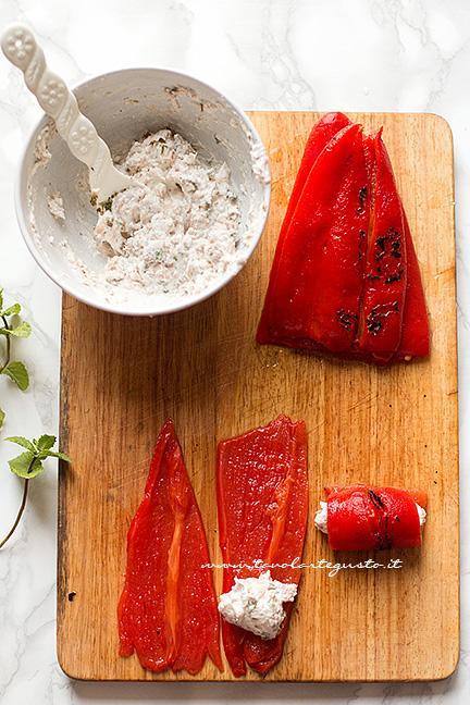 Come fare gli involtini di peperoni al ton
