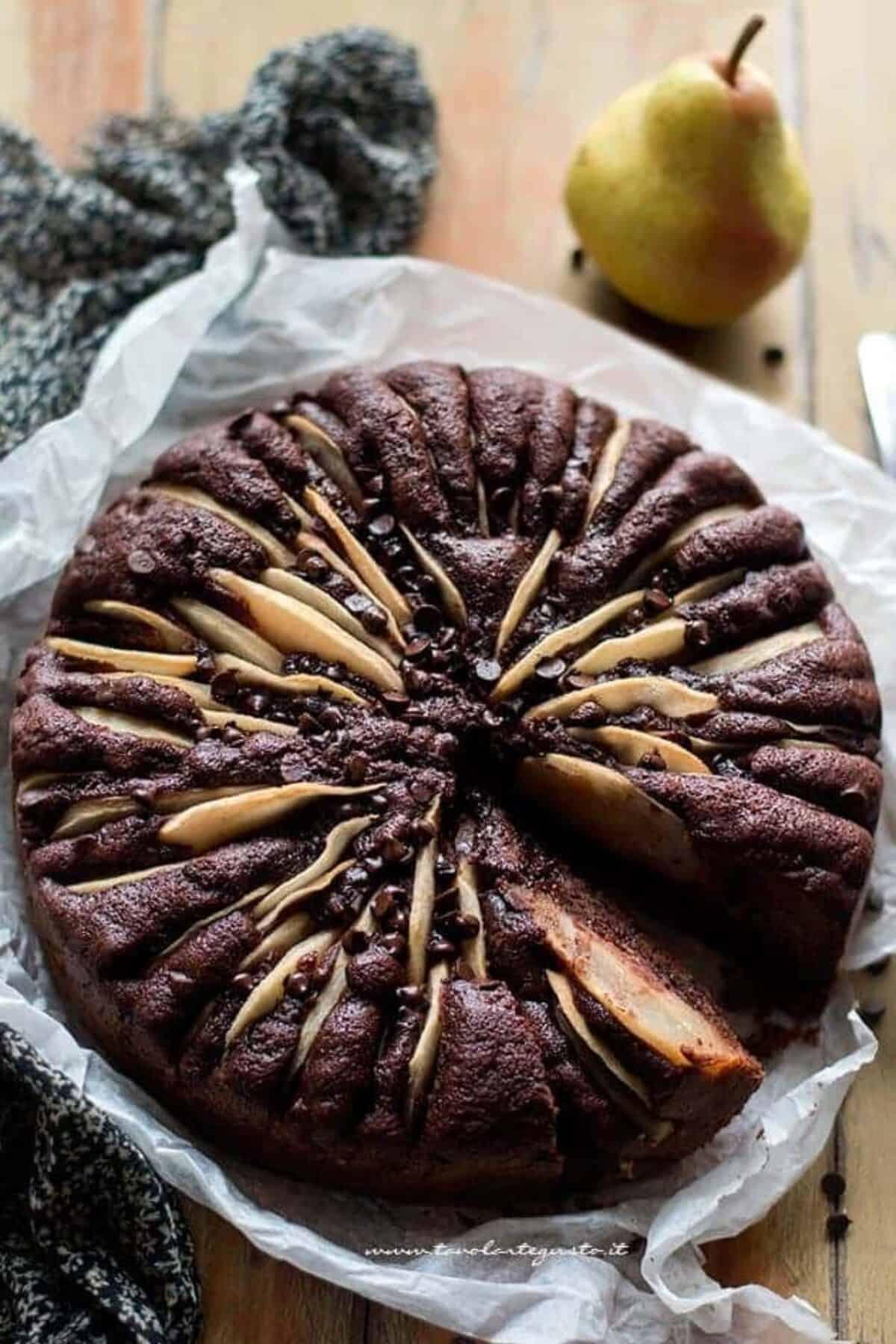 Ricetta Torta Pere E Yogurt Bimby.Torta Soffice Pere E Cioccolato Ricetta Classica Golosa Tavolartegusto