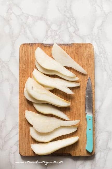 Affettate le pere - Ricetta Tarte pere e cioccolato