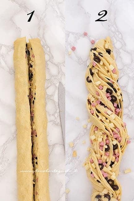Come dare la forma intrecciata 2 - Ricetta Angelica salata