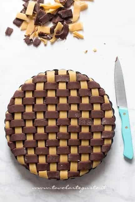 Intreccio bicolore di pasta frolla - Intreccio perfetto per crostate e pie