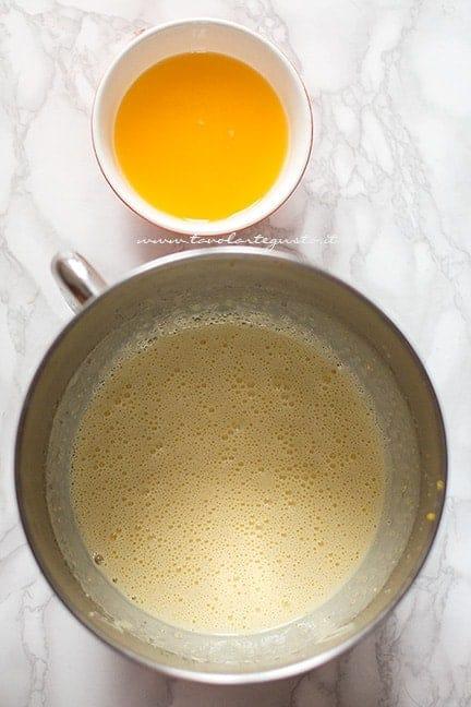 preparazione della ciambella all'arancia - Ricetta Ciambella all'arancia