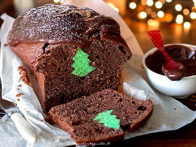 Plumcake con sorpresa di Natale - Ricetta Plumcake di Natale