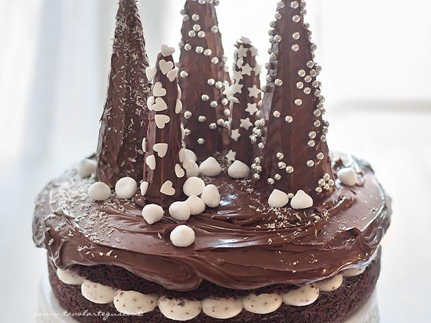 Torta di Natale (al cioccolato con Alberi) Ricetta Torta di Natale