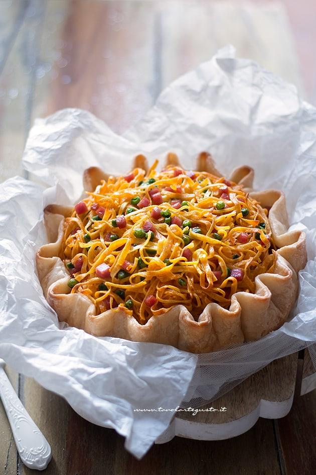 Torta di Tagliatelle salata - Ricetta Torta di Tagliatelle salata