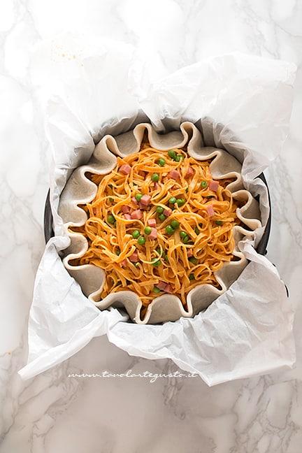 come realizzare la torta di tagliatelle - Ricetta Torta di Tagliatelle salata