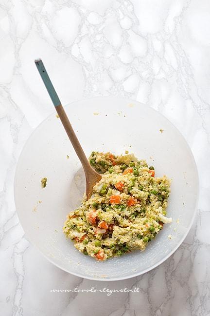 Impasto delle polpette di verdure - Ricetta Polpette di verdure