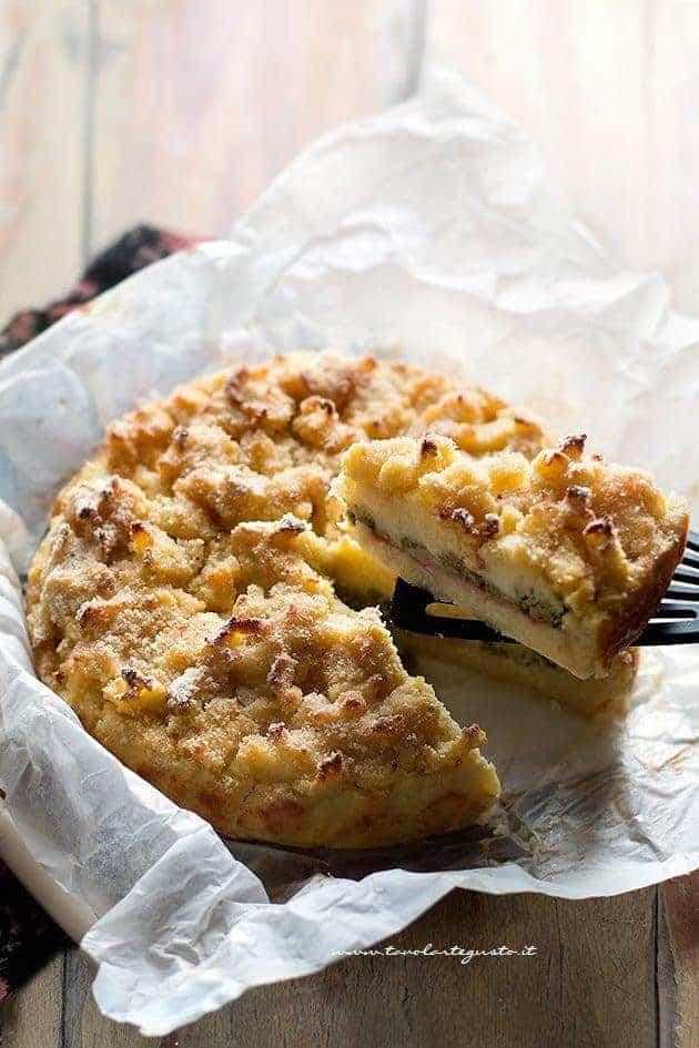 Sbriciolata di patate (fetta) - Ricetta Sbriciolata di patate