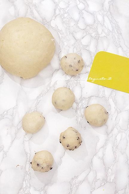 formare le brioche - Ricetta Brioche vegan (senza uova,burro e latte)