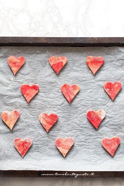 Cuocere i biscotti marmorizzati - Ricetta Biscotti marmorizzati