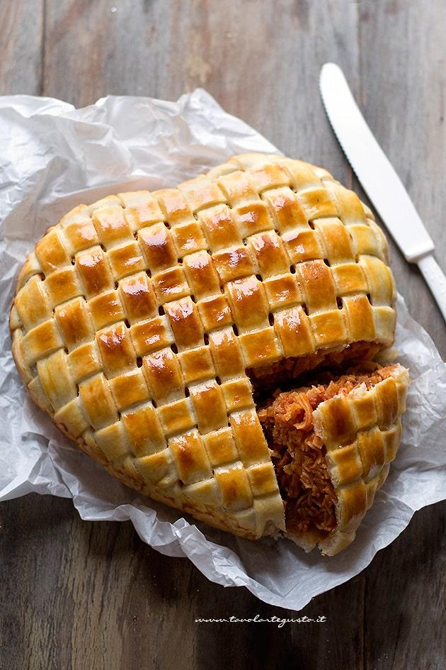 Tagliatella in crosta - Ricetta Tagliatelle in crosta