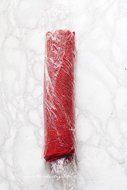 far riposare il rotolo - Ricetta Rotolo red velvet