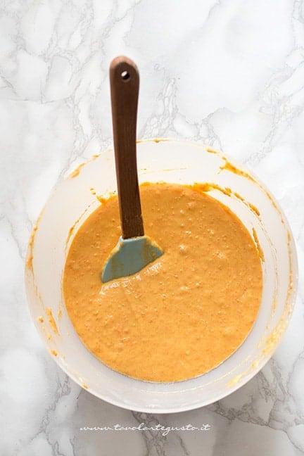impasto della torta alle carote - Ricetta Torta di carote vegana