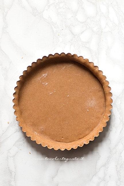 realizzare il guscio - Ricetta Crostata integrale