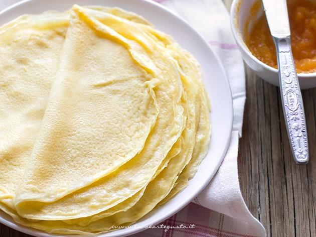 Crepes dolci e salate impasto base perfetto - Ricetta Crepes-