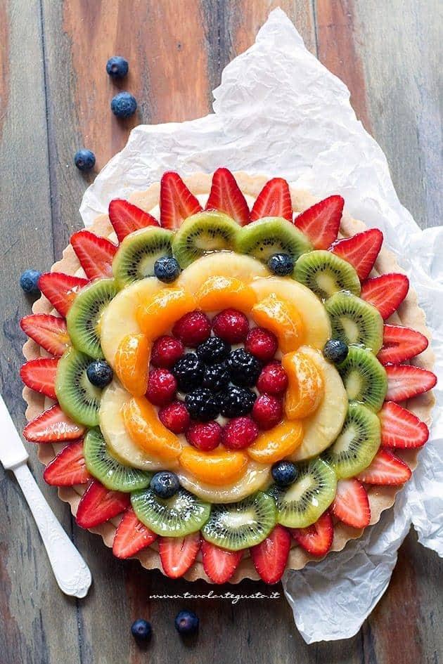 Crostata di frutta - Crostata alla frutta - Ricetta Crostata di frutta